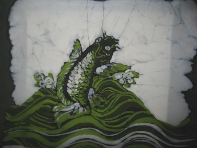green carp jumping