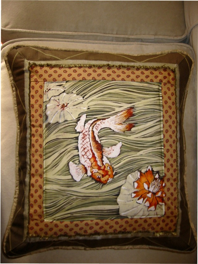 orange carp pillow 1