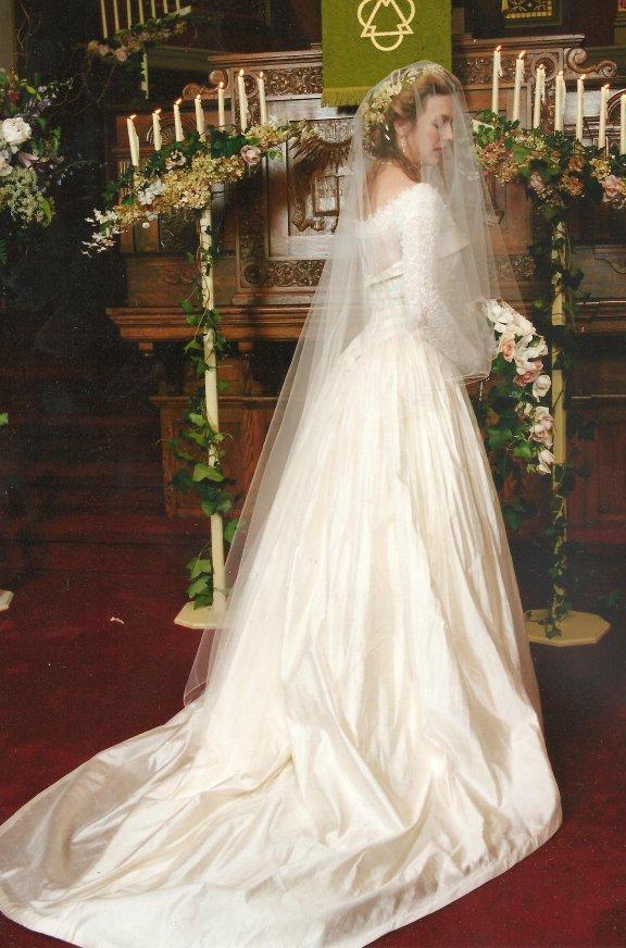 Wedding dress cropped