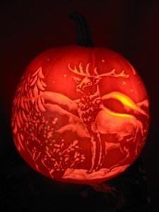 Elk pumpkin