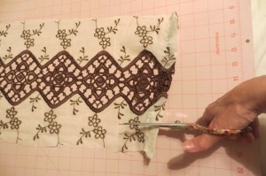 cutting lace